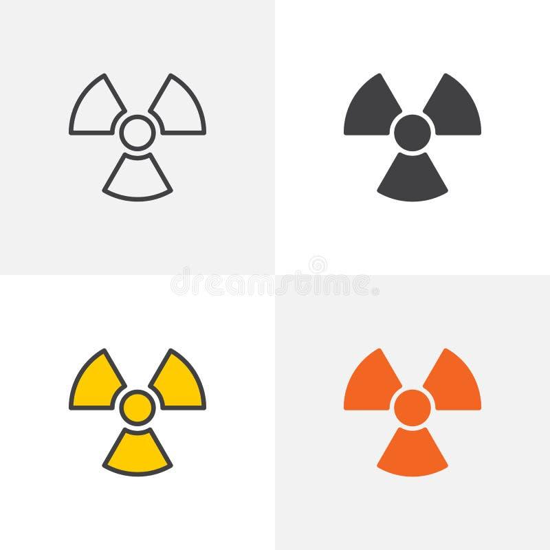 Illustration du rayonnement icon illustration stock