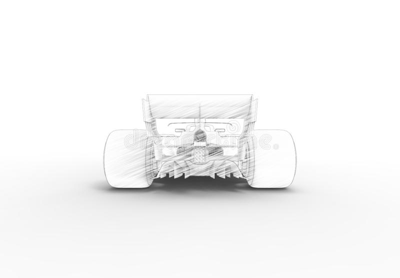 illustration du rendu 3D avec d'un moderne tout voiture de sport de course noire illustration stock