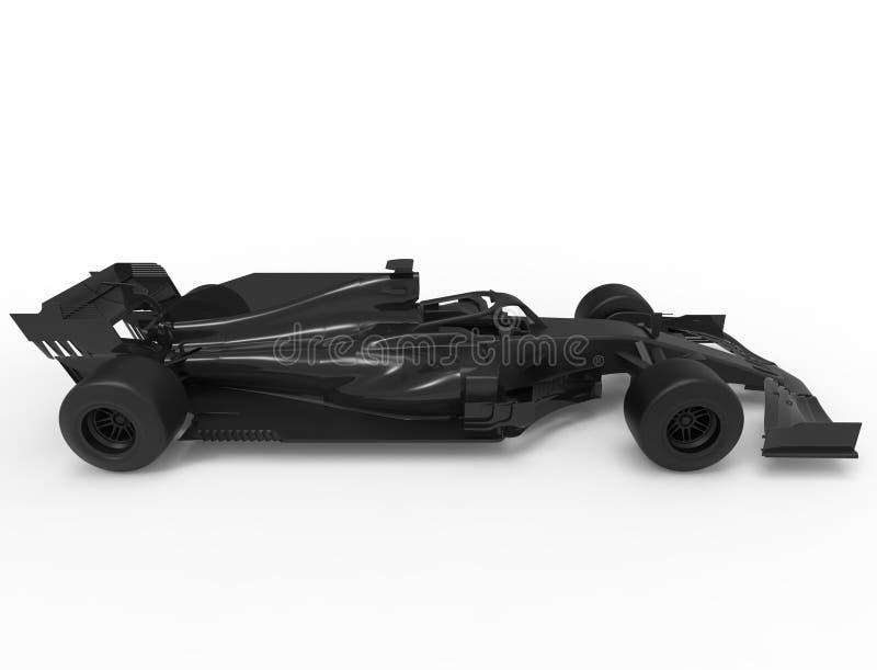 illustration du rendu 3D d'un tout voiture de sport noire de course de formule illustration libre de droits