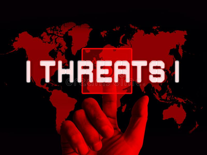 Illustration du risque 3d de crime de Cyber de menaces de Cybersecurity illustration libre de droits