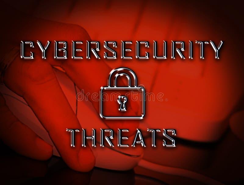 Illustration du risque 3d de crime de Cyber de menaces de Cybersecurity illustration stock