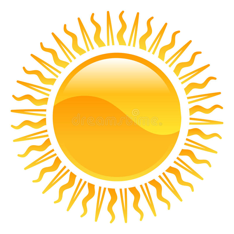 Illustration du soleil de clipart d'icône de temps illustration stock