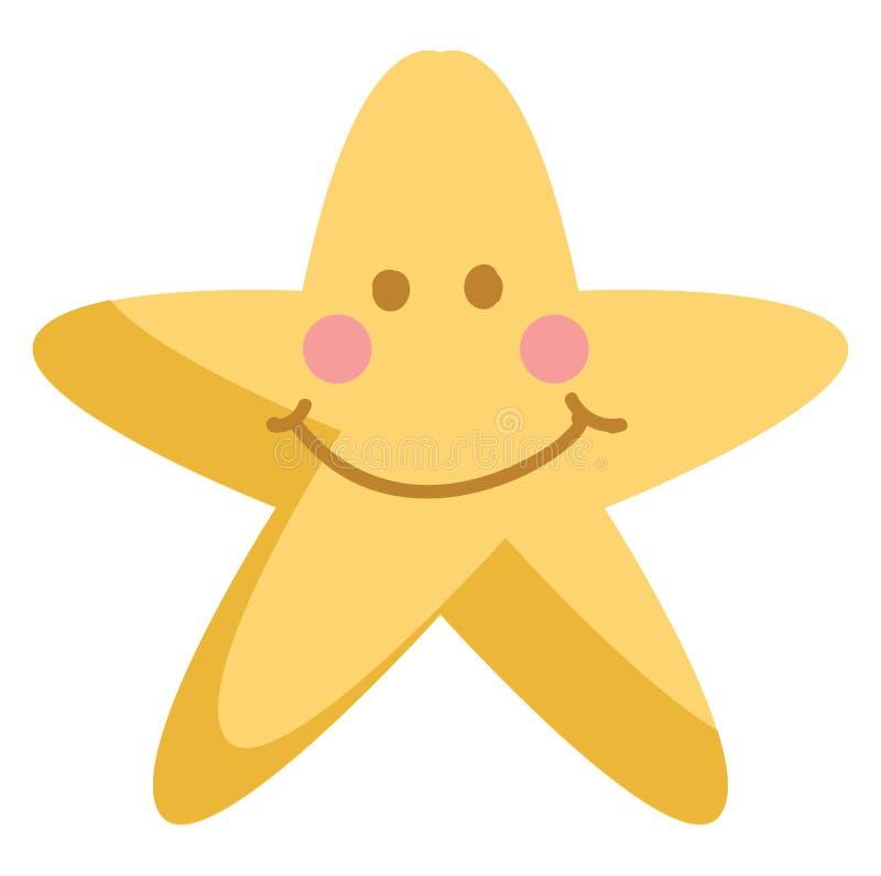 Illustration du vecteur étoile jaune souriant illustration libre de droits