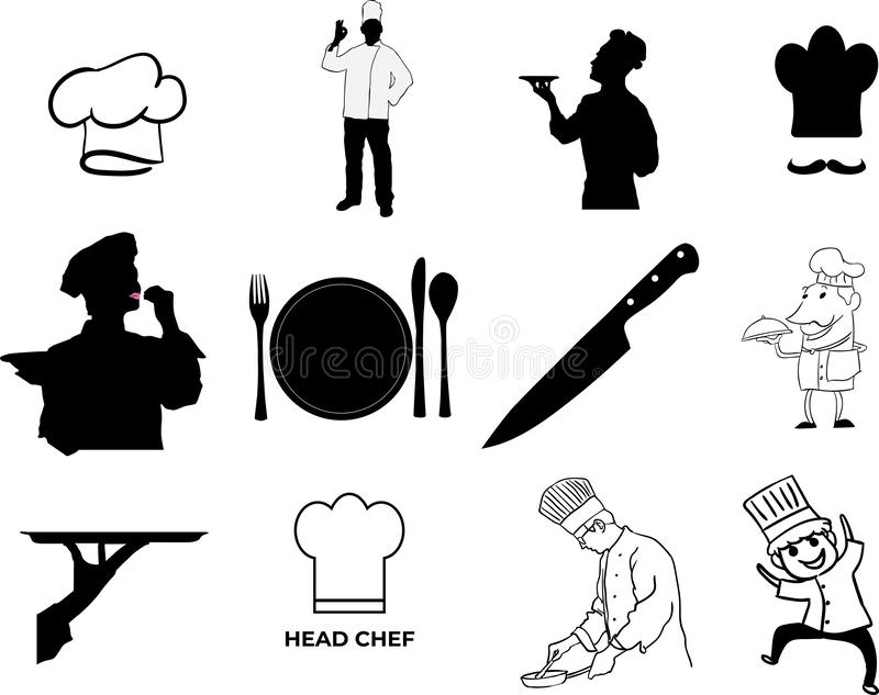 Illustration du vecteur ENV de chef par des crafteroks illustration stock