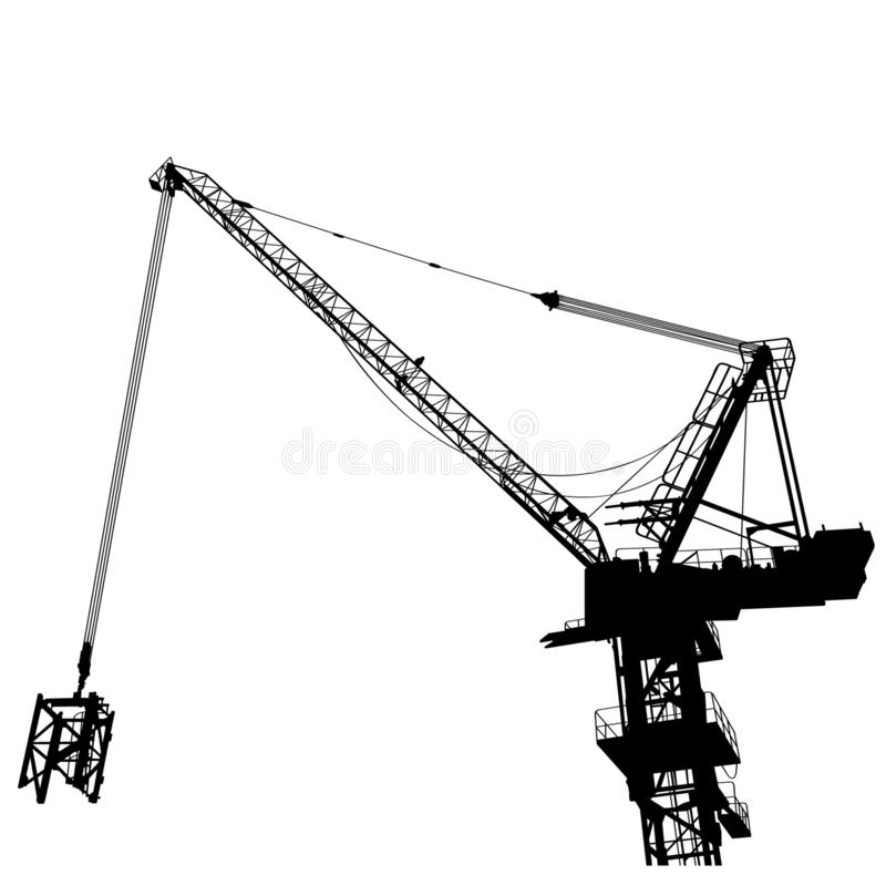 Illustration du vecteur ENV de grue de construction par des crafteroks illustration libre de droits