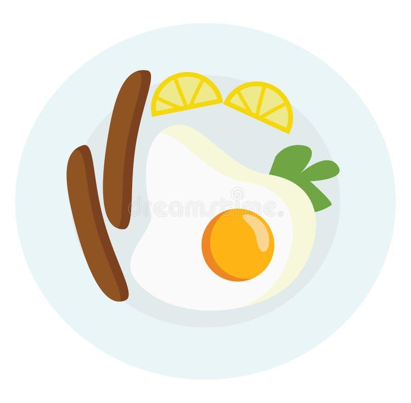 Illustration du vecteur ou de la couleur du plateau de petit-déjeuner illustration libre de droits