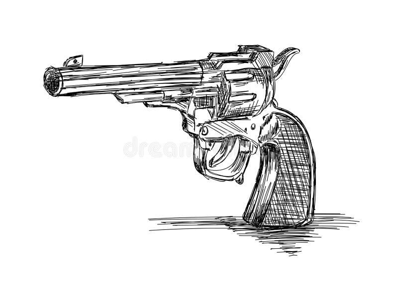 Illustration du vintage / Vieux vecteur d'armes à feu révolutionnaires illustration stock