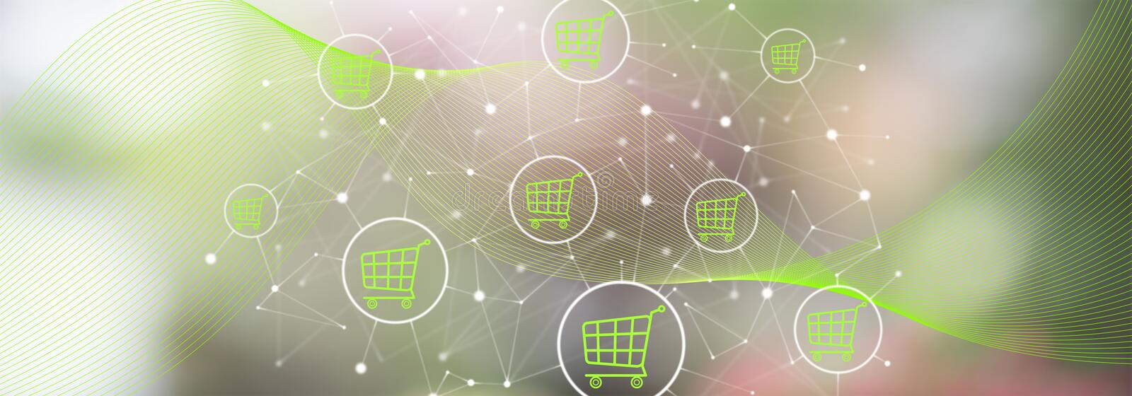 Concept of e-commerce. Illustration of an e-commerce concept royalty free stock photos