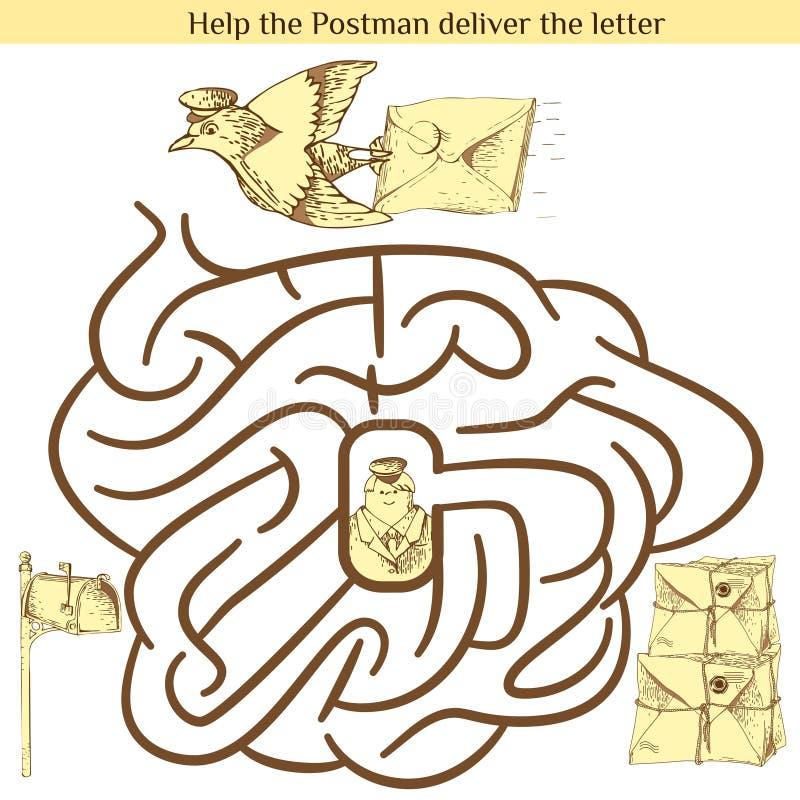 Illustration of Education Maze for Preschool Children vector illustration