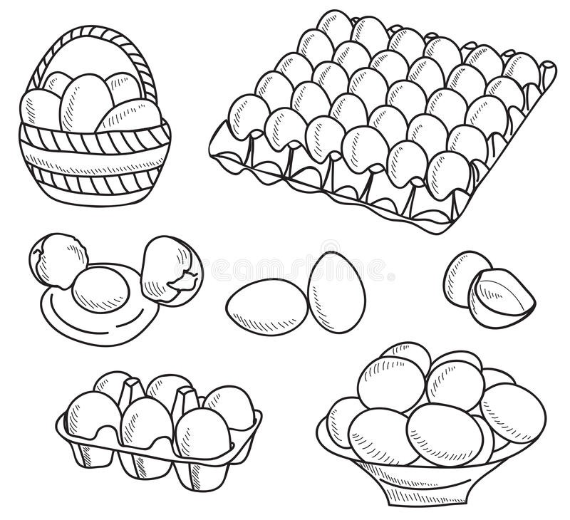 Illustration of eggs royalty free illustration