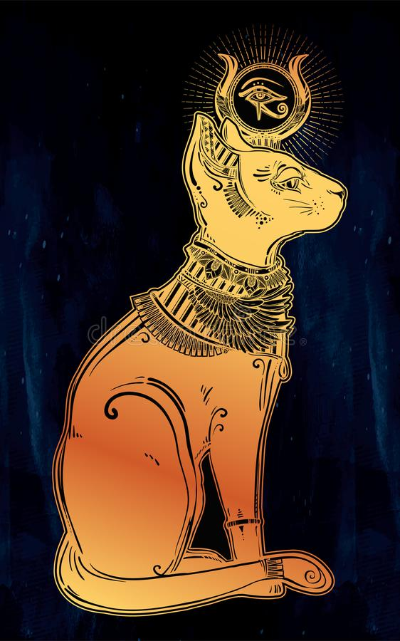 Bastet Egyptian Cat Goddess Symbol