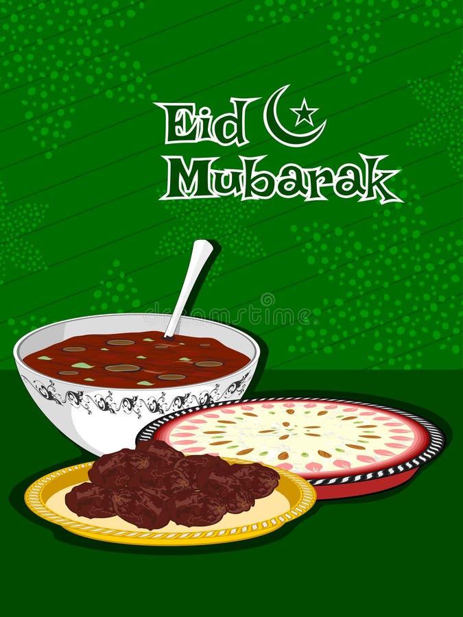 Illustration for eid celebration stock illustration