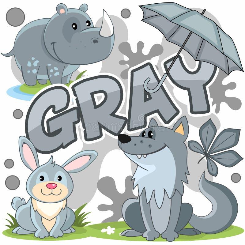 Illustration einer grauen Farbe stock abbildung