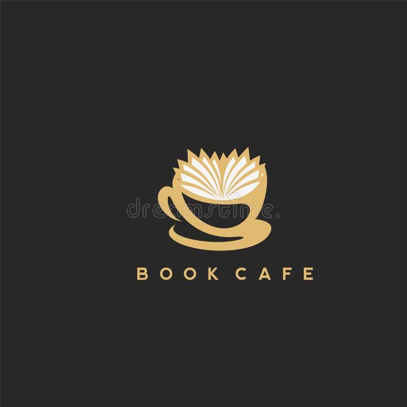 Illustration einer Kaffeetasse mit einem Buch lizenzfreie abbildung
