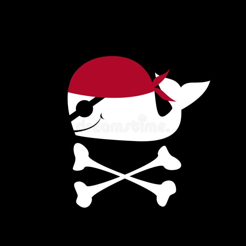 Illustration einer Piratenflagge lizenzfreie stockfotos
