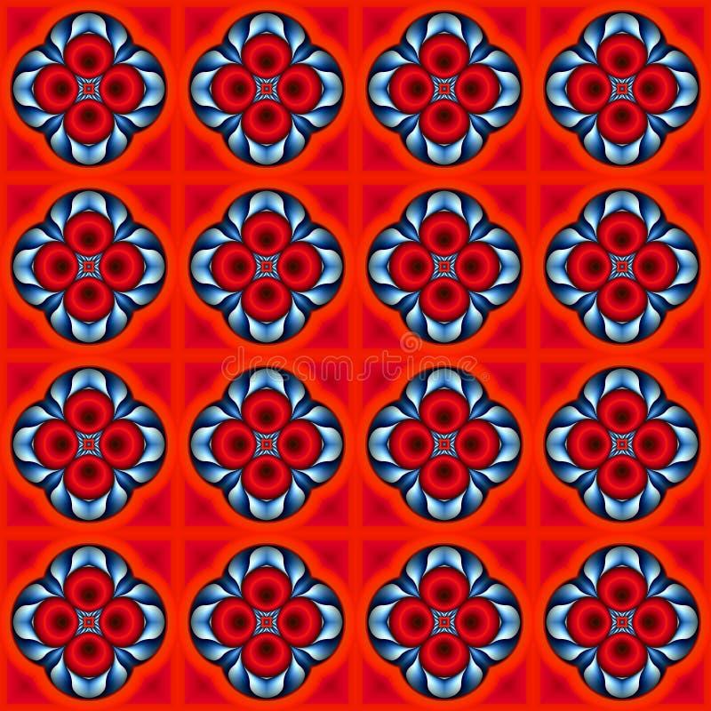 Illustration eines abstrakten Hintergrundes einer Farbquadratpflasterung stockbild