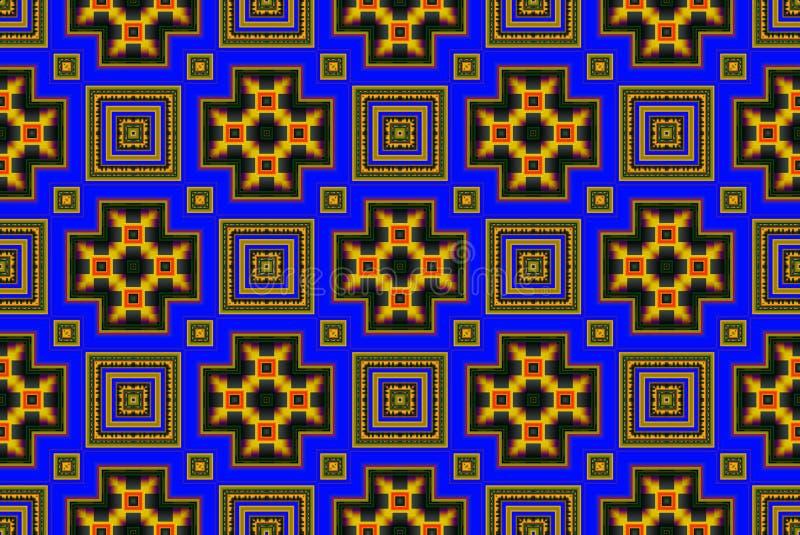 Illustration eines abstrakten Hintergrundes einer Farbquadratpflasterung lizenzfreie stockbilder