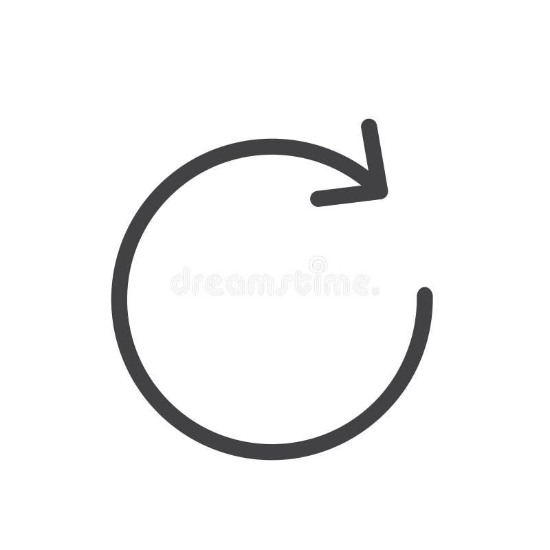 Illustration eines Auffrischungssymbols vektor abbildung