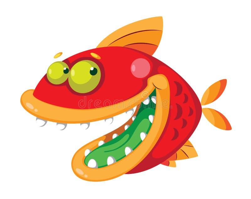 Fische verrückt stock abbildung