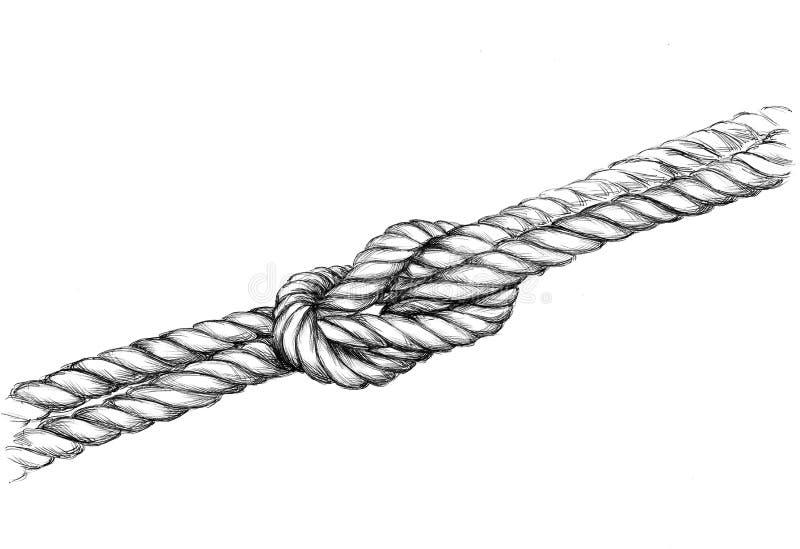 Illustration eines geknoteten Seils lizenzfreie abbildung