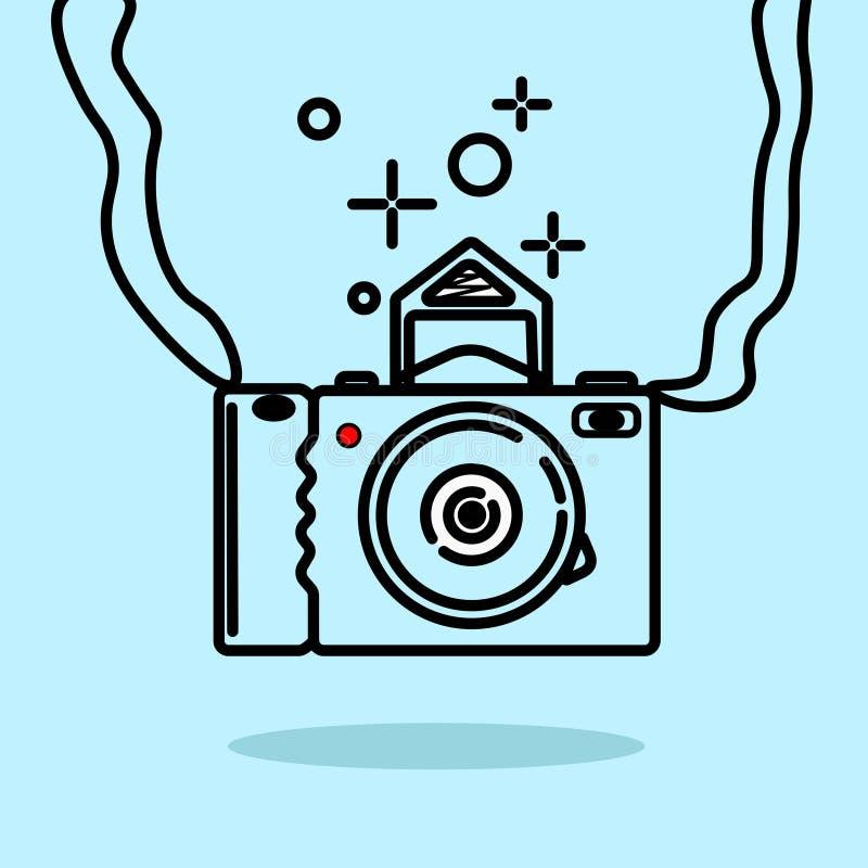 Illustration eines Kamerabildes lizenzfreie abbildung