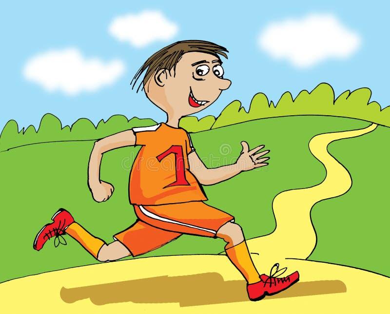 Illustration eines Läufers, Karikatur stock abbildung