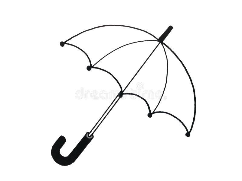 Illustration eines Regenschirmes stock abbildung
