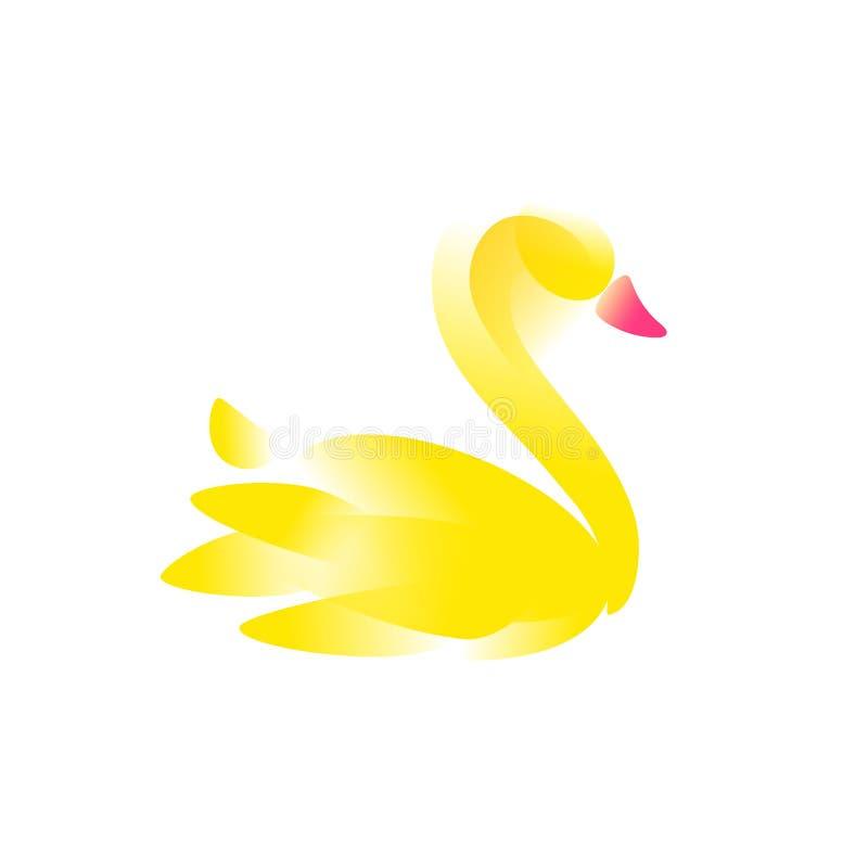 Illustration eines Schwans für ein Logo Auch im corel abgehobenen Betrag Ein Bild eines Schwans für einen Schönheitssalon, ein Ge stock abbildung