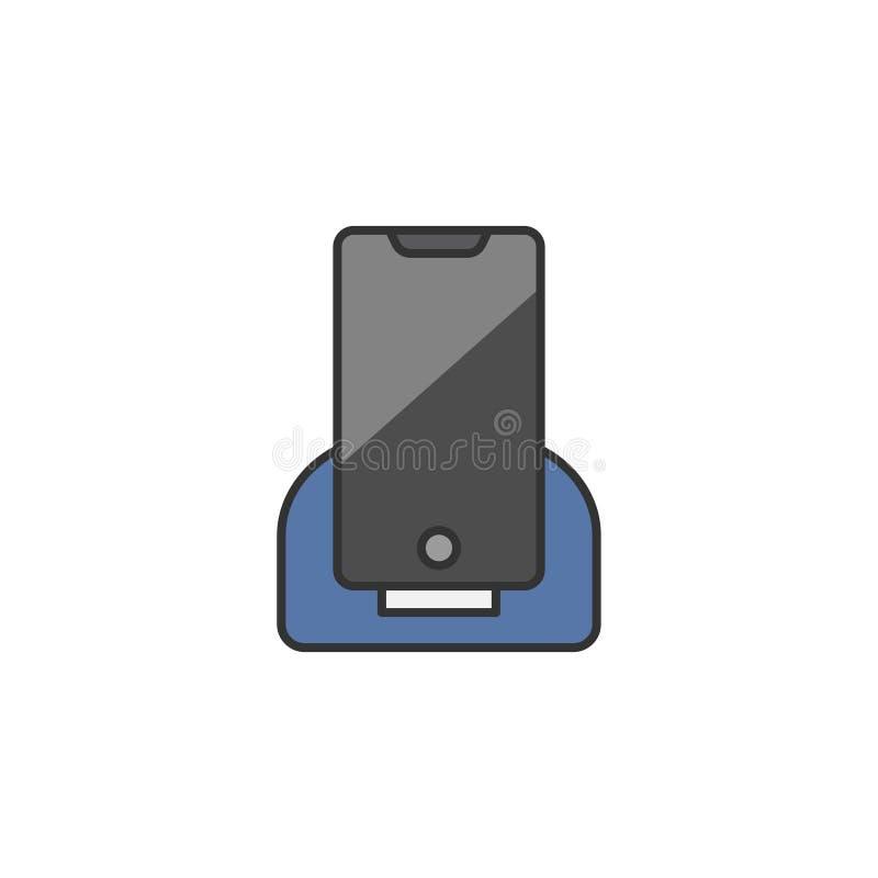 Illustration eines Telefons, das aufgeladen wird vektor abbildung