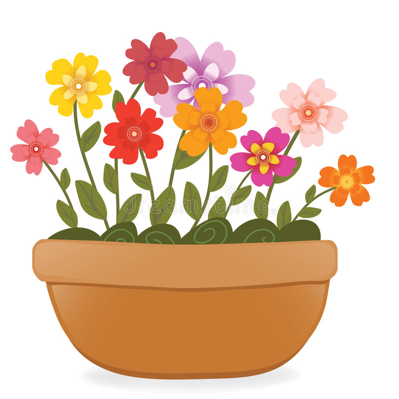 Blumentopf stock abbildung