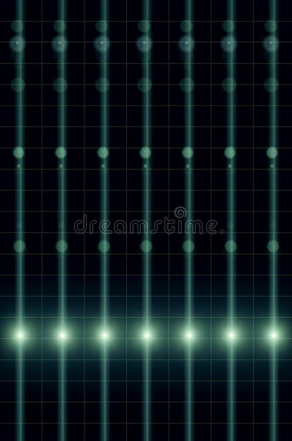 Electric power transmission line, energy network background, futuristic transmission of information via light. Illustration of electric power transmission line stock illustration