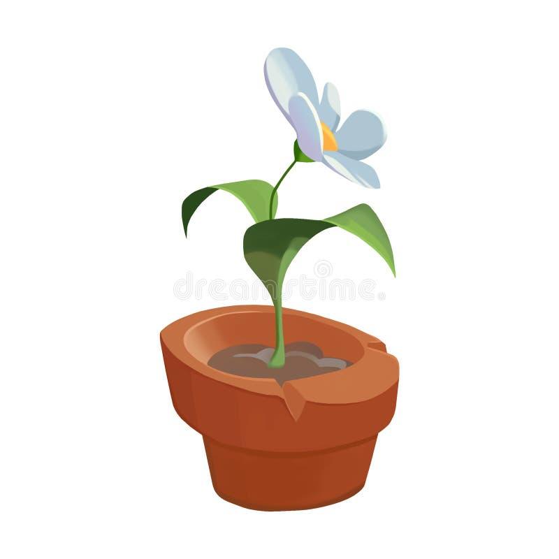 Illustration: Element-Satz: Eine eingemachte Blume vektor abbildung