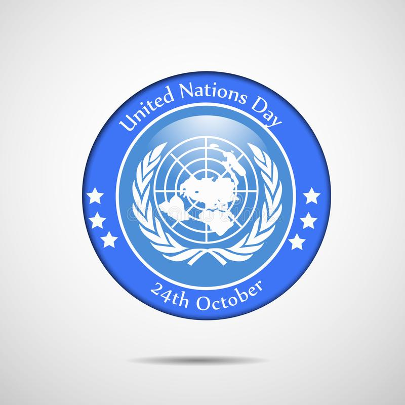 Illustration of United Nations Day Background royalty free illustration