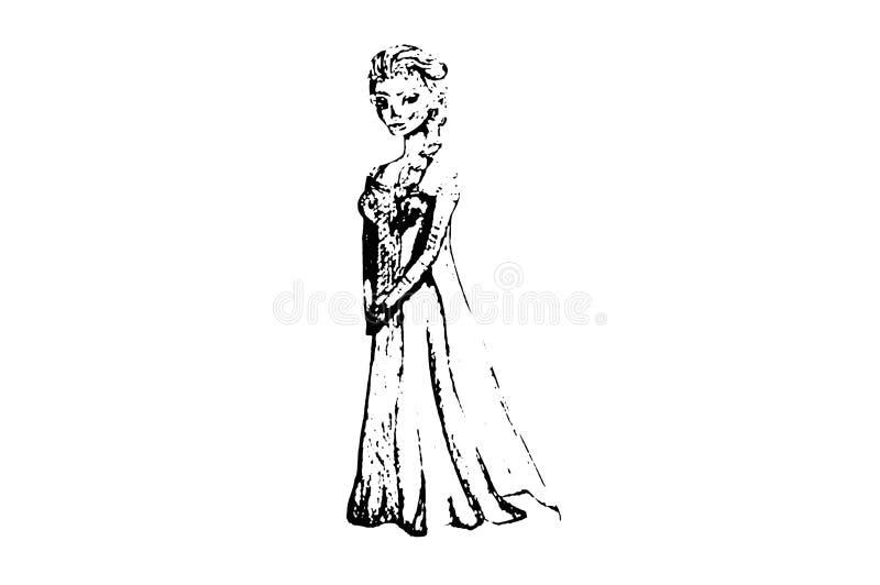 Illustration `Elsa`. Cold heart. stock illustration