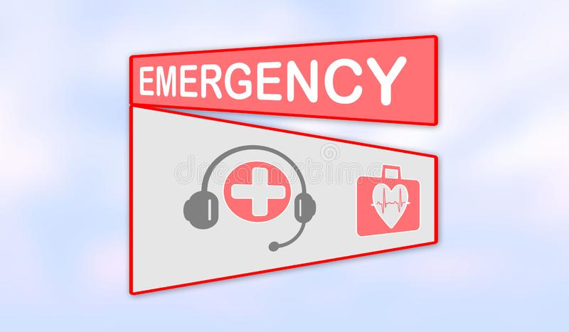 Concept of emergency royalty free illustration