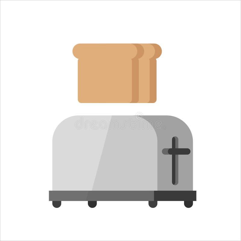 Illustration en acier de vecteur de grille-pain illustration de vecteur