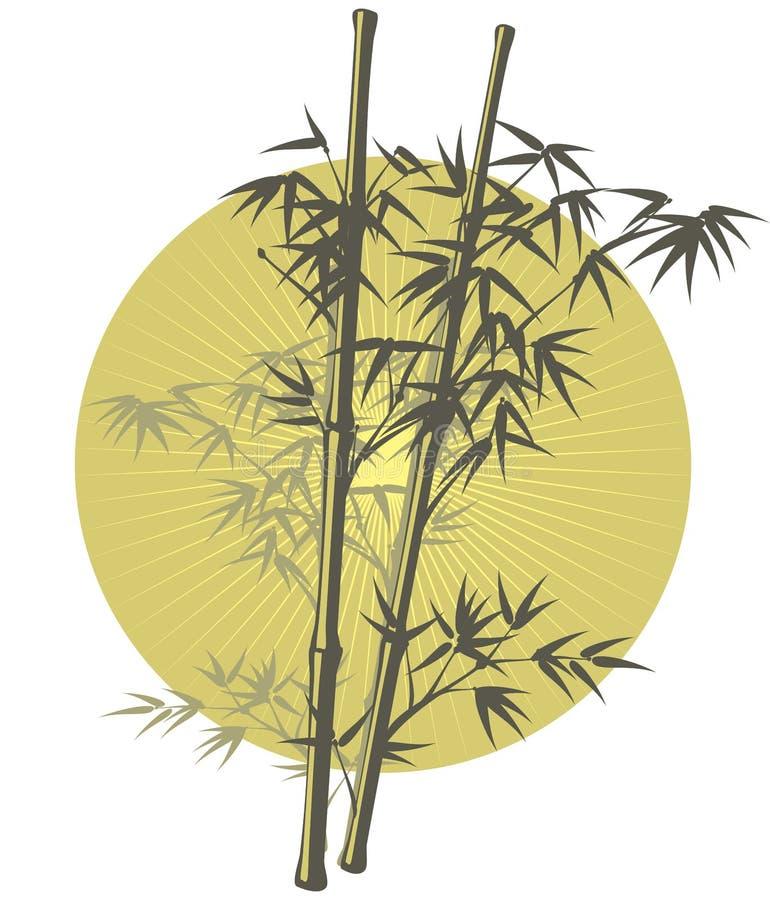 illustration en bambou asiatique illustration stock