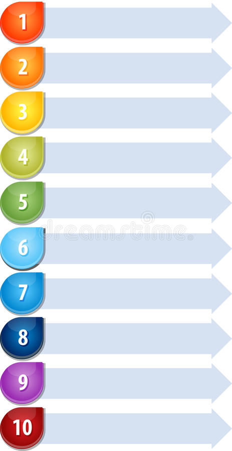 Illustration en blanc de diagramme d'affaires de la liste Dix de balle illustration de vecteur