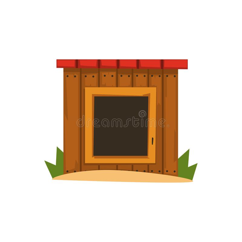 Illustration en bois de vecteur de chenil sur un fond blanc illustration stock
