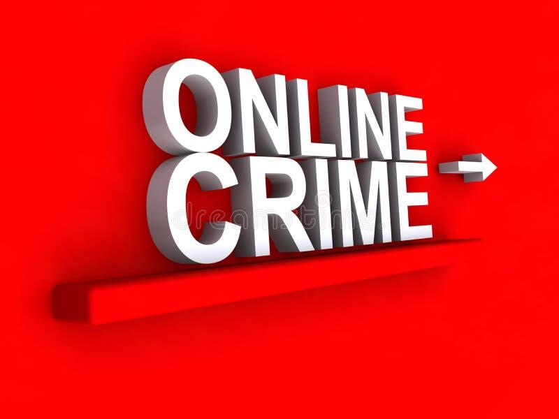 Illustration en ligne de crime illustration stock