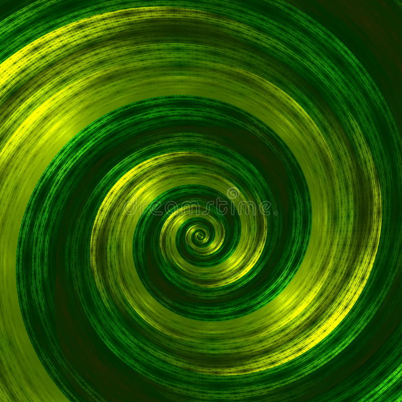 Illustration en spirale verte abstraite créative Belle illustration de fond Image monochrome de fractale Conception d'éléments de illustration stock