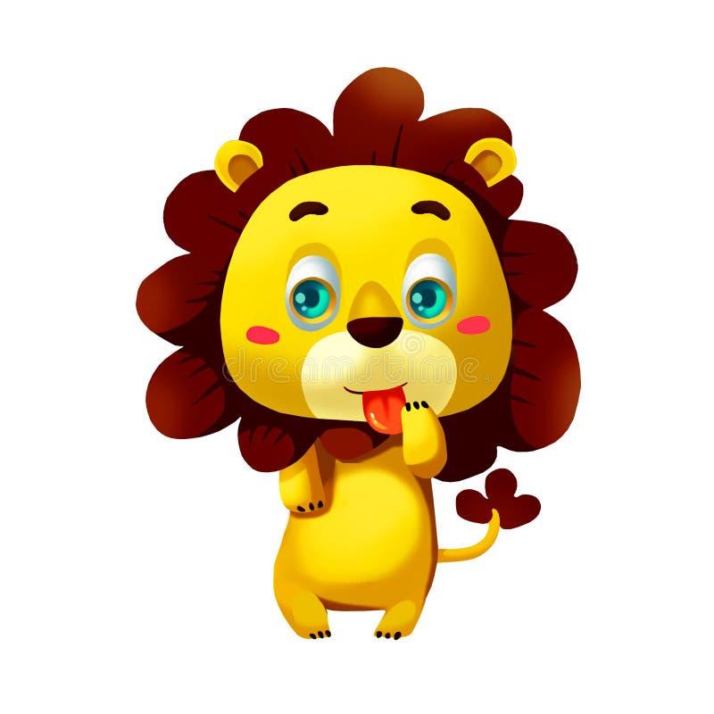 Illustration : Ensemble d'éléments : Lion illustration libre de droits