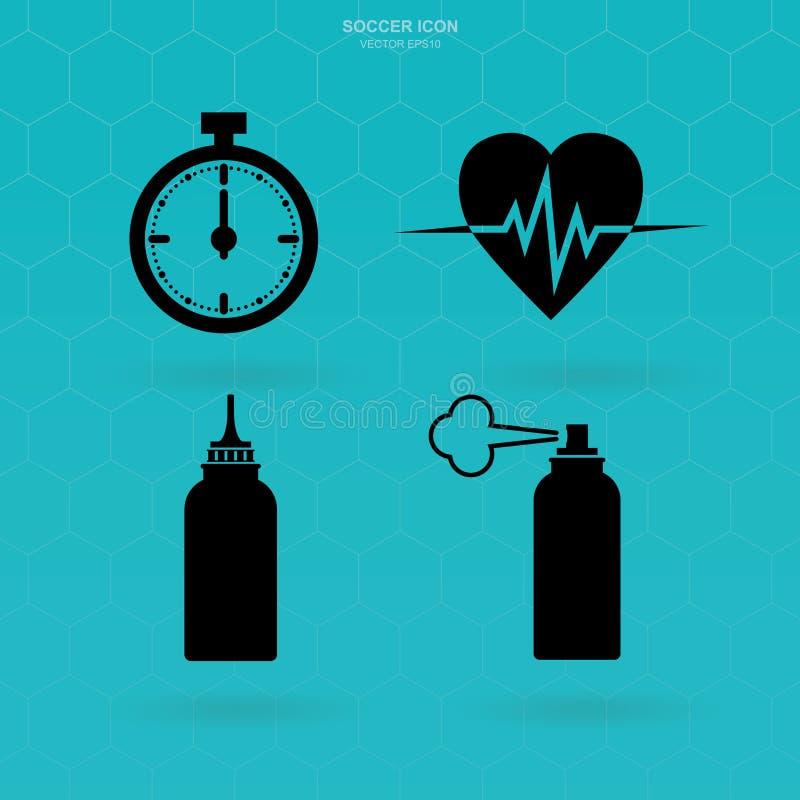 Illustration eps10 Abstrakt sjukvårdtecken och symbol royaltyfri illustrationer