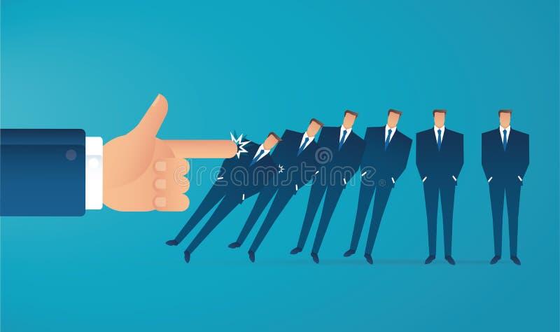 Illustration EPS10 de vecteur de concept d'affaires d'effet de domino illustration libre de droits
