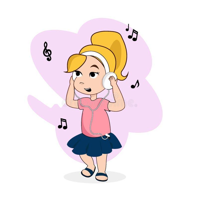 Illustration eps10 de vecteur de personnage de dessin animé de bébé photographie stock