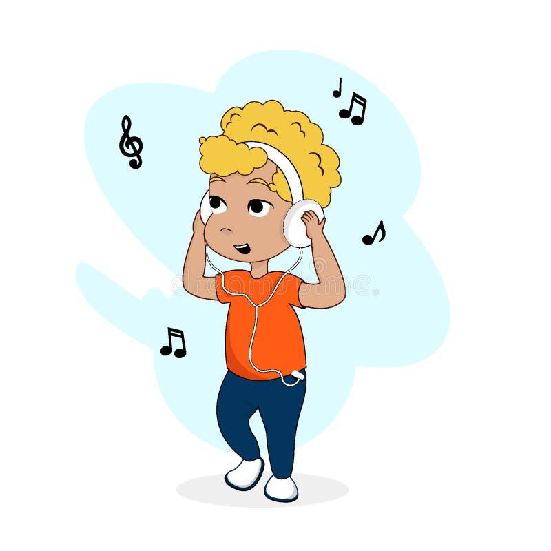 Illustration eps10 de vecteur de personnage de dessin animé de bébé garçon photos libres de droits