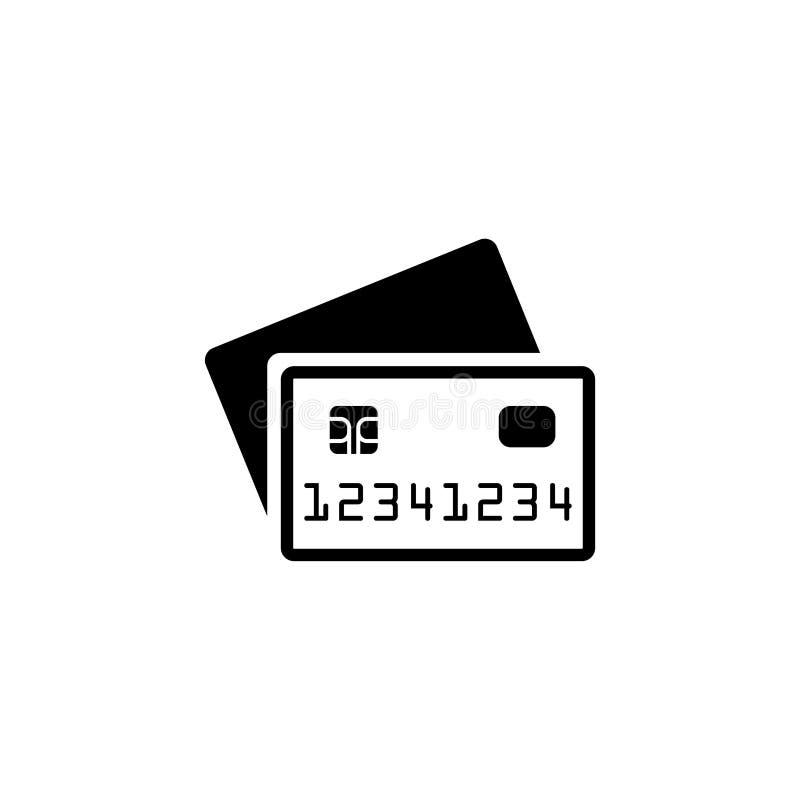 Illustration eps10 för vektor för kreditkortbetalningsymbol på vit bakgrund vektor illustrationer