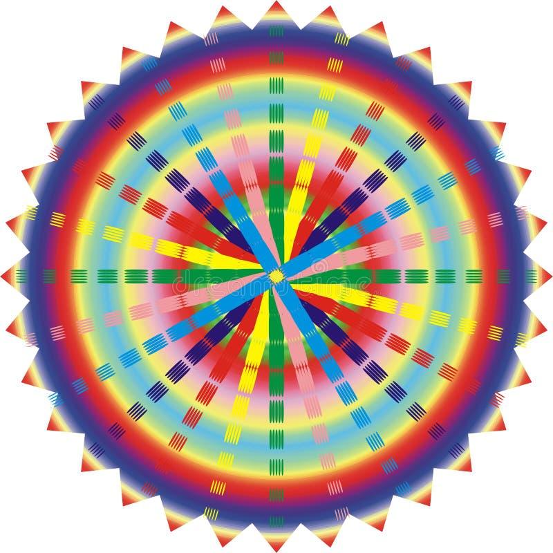 Illustration of esoteric mandala vector illustration