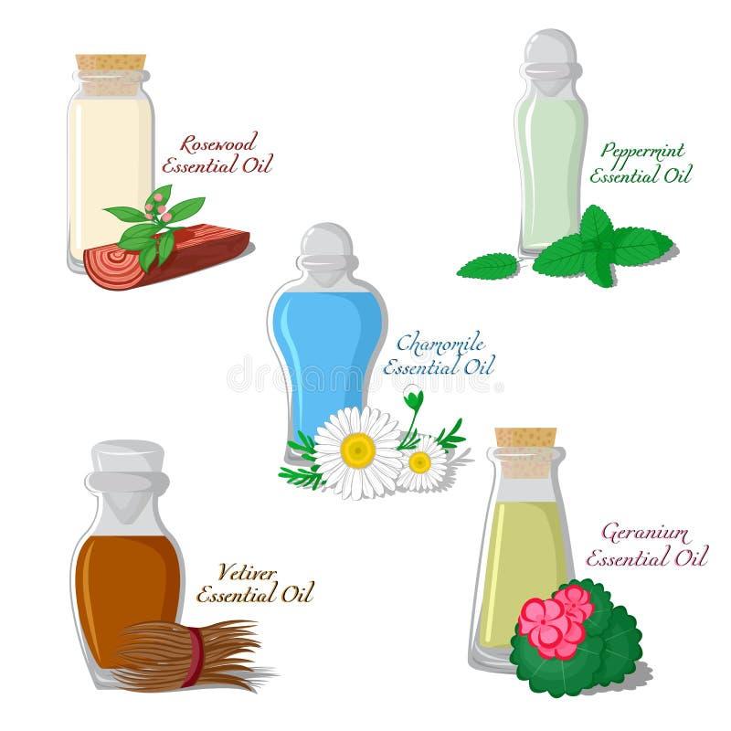 Illustration of essential oils. Part 2 vector illustration