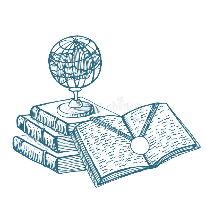 illustration Ett symbol av bra lära royaltyfri illustrationer